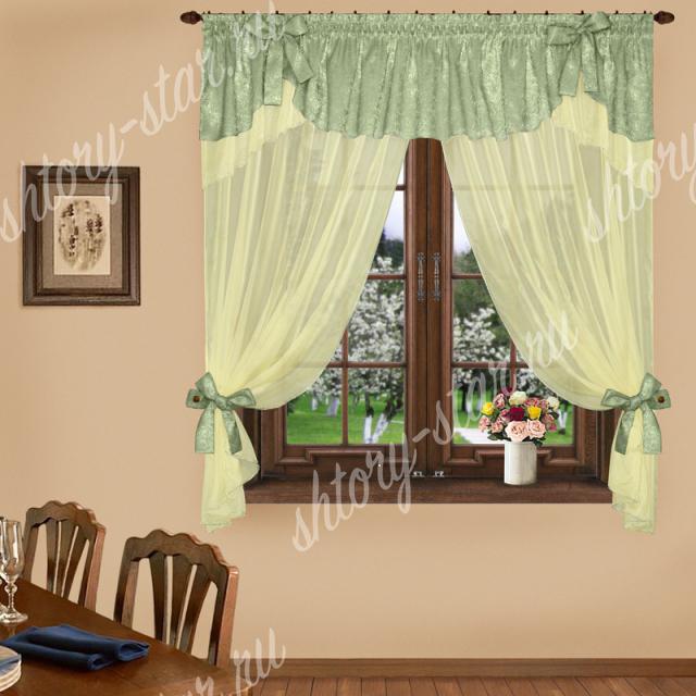 короткие шторы в кухню