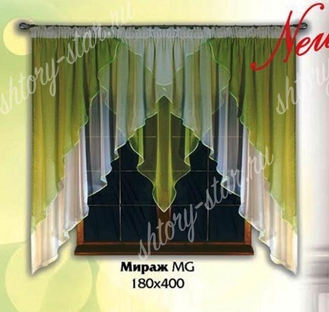 недорогие готовые короткие шторы на кухню