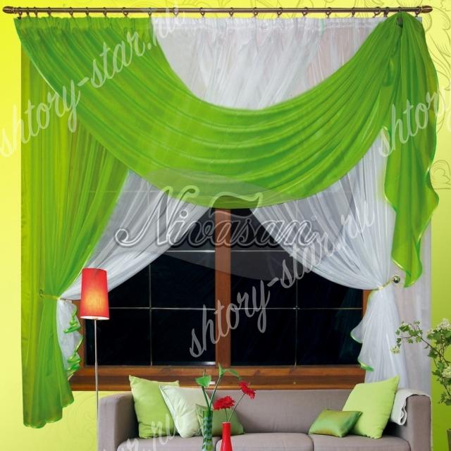 классические шторы для кухни с балконом