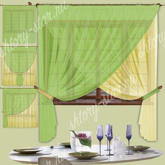 длинные шторы для кухни с балконной дверью