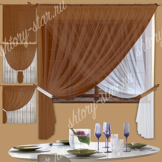коричневые шторы новинка дизайна штор для кухни
