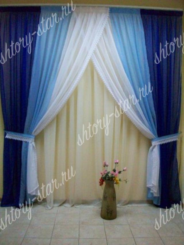 Как сшить шторы из вуали трёх цветов 33