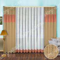 Шторы для комнаты с тюлем для гостиной, спальни и кухни недорогие и красивые жаккардовые портьеры в интерьер квартиры и коттеджа