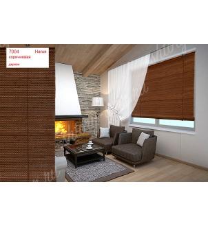 Бамбуковые шторы жалюзи. Нагоя цвет коричневый арт 7004. Высота шторы жалюзи 160 см.