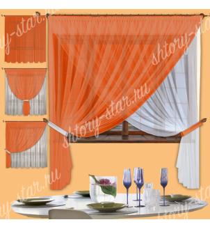 Кухонные шторы из тюля