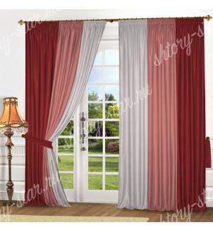 Комбинированные шторы на окна для гостиной, зала и спальни
