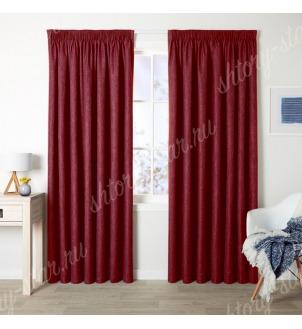 Шторы под бархат цвет бордовый для гостиной и спальни
