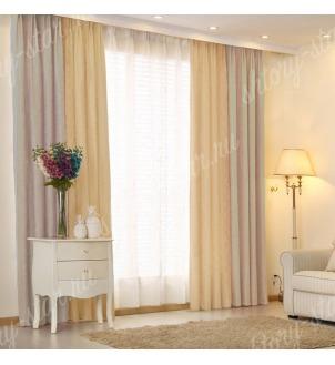 Комбинированные шторы блэкаут из двух цветов для гостиной и зала арт - БКШ - 8. Цена 3500 руб. Тюль оплачивается отдельно.