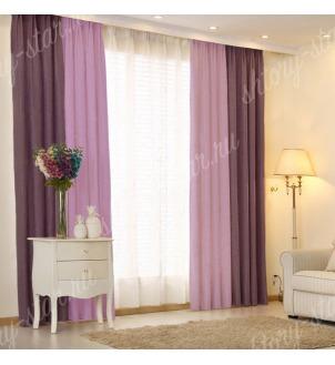 Комбинированные шторы блэкаут из двух цветов для гостиной и зала арт - БКШ - 9. Цена 3500 руб. Тюль оплачивается отдельно.