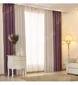 Комбинированные шторы блэкаут из двух цветов для гостиной и зала арт - БКШ - 21. Цена 3500 руб. Тюль оплачивается отдельно.
