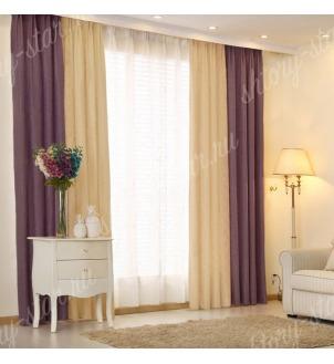 Комбинированные шторы блэкаут из двух цветов для гостиной и зала арт - БКШ - 10. Цена 3500 руб. Тюль оплачивается отдельно.