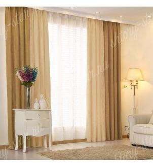 Комбинированные шторы блэкаут из двух цветов для гостиной и зала арт - БКШ - 11. Цена 3500 руб. Тюль оплачивается отдельно.