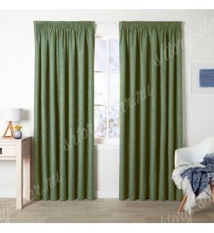 Шторы под бархат цвет зеленый для гостиной и спальни